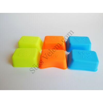 Téglatest alakú szilikon mini sütőforma 6 db