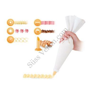 Textil habzsák 6 díszítőfejjel Tescoma