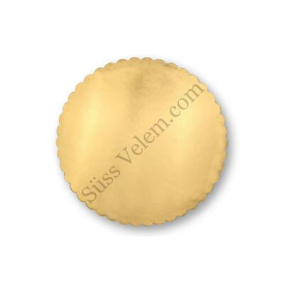 Tortakarton arany fodros 24 cm
