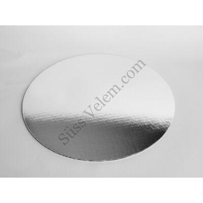 Kerek tortakarton ezüst színű 30 cm Standard