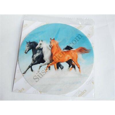 Tortaostya futó lovak
