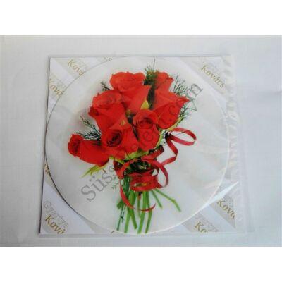 Tortaostya rózsacsokor