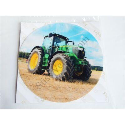 Traktoros tortaostya zöld 20 cm