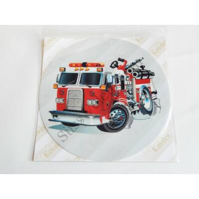Tűzoltó autó tortaostya 20 cm