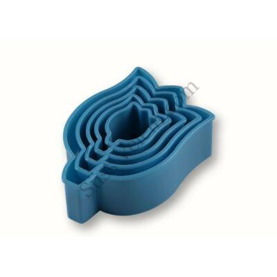 Tulipán alakú 5 részes műanyag süti kiszúró