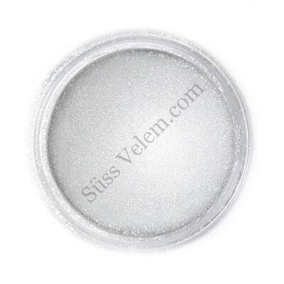 Világos metál ezüst Fractal ehető csillámpor