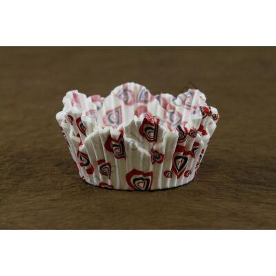 Virág alakú muffin papír 80 db