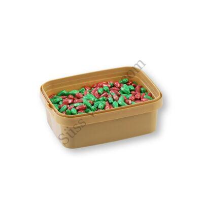 20 dkg zöld-piros karácsonyi égők cukorgyöngy